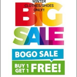 BOGO SALE ON ALL WINTER KIDS CLOTHES/SHOES ONLY!!!